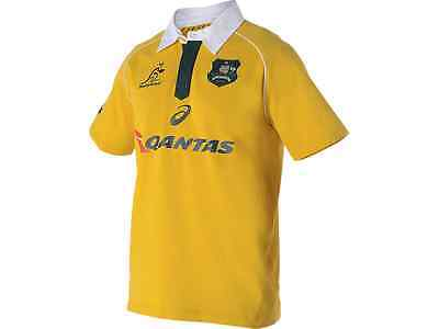 RUGBY Wallabies 2016 Mens Traditional Short Sleeve Jersey - Sizes  S-3XL
