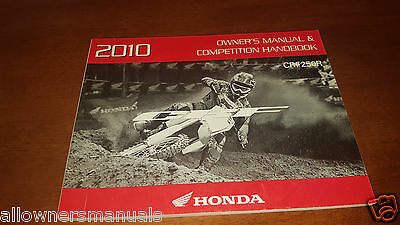 2010 New Honda Crf250 Crf 250 R Competition Owners Operation Manual Handbook!