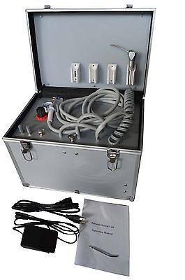 110V BD-402 Portable Dental Unit+ Air Compressor +Suction System +Triplex Syring