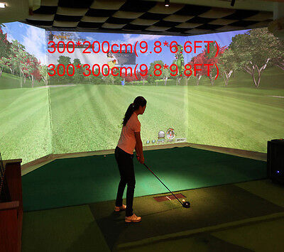 10''x10'' Indoor Golf Ball Simulator Impact Display Projection Screen