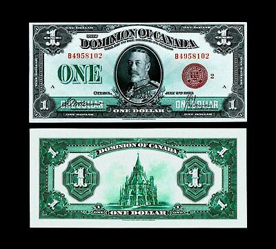 RARE 1923B Dominion of Canada Large Note - Bronze Seal ,ALMOST UNCIRCULATED