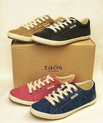 Taos Shoes Star Canvas comfort lace up sneakers Taos Star washed canvas colours