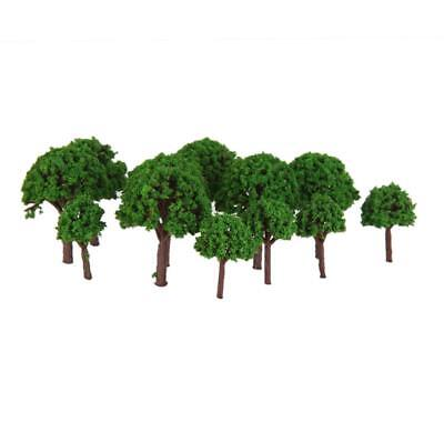 50pcs 3cm Scenery Landscape Train Park Model Trees Light Green Scale 1/500