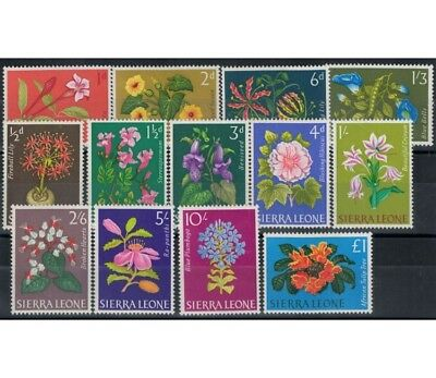 SIERRA LEONE 1963 Ordinari, fiori - Definitives, flowers 13 v