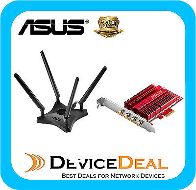 NEW ASUS PCE-AC88 PCIe Wireless Adapter AC3100
