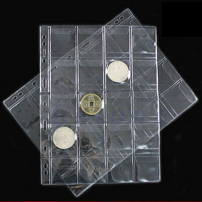 Clear 42 Pockets Plastic Coin Holders Storage Collection Money Album Case FJBSC