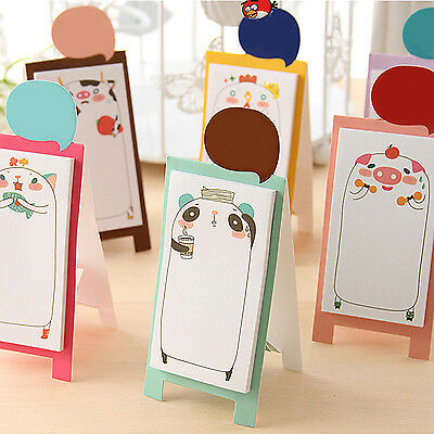 Hi Cute Animals Daily Planner Bookmark Marker Sticky Notes Notepad Check List
