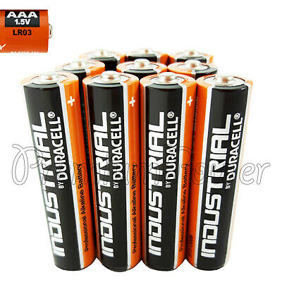 10 x Duracell AAA batteries Industrial Procell Alkaline 1.5V MN2400 LR03 EXP2022