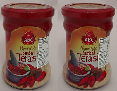 2x ABC Sambal Terasi Quality Cooking Condiment Shrimp Paste Chilli Halal 200g