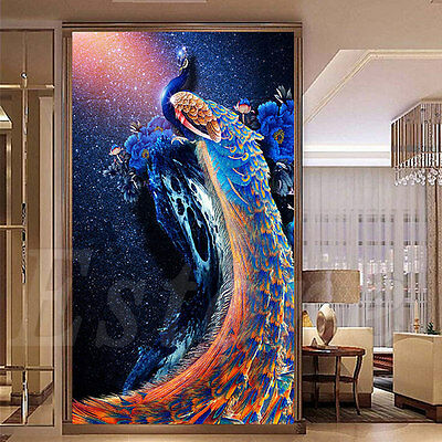 5D Diamond Embroidery Painting DIY Peacock Mosaic Cross Stitch Craft Home Decor