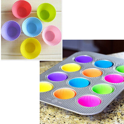 48Pcs Silicone Baking Cups Cupcake Liner Reusable Muffin Molds Storage Container