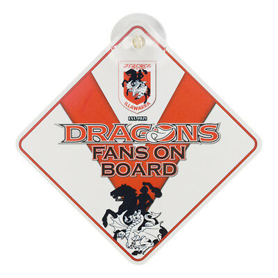 St George Dragons NRL Team Supporters Car Sign * Fans on Board