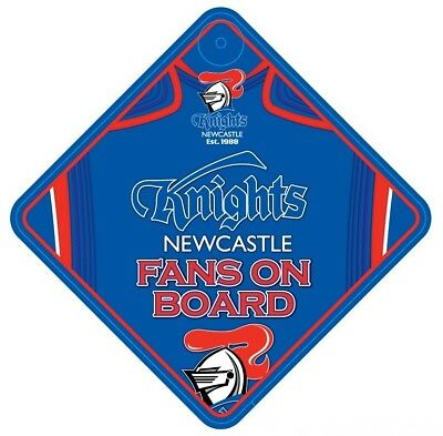 Newcastle Knights NRL Team Supporters Car Sign * Fans on Board