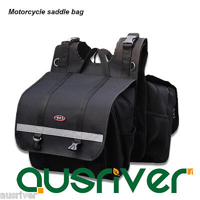New Adjustable Motorcycle Motorbike Saddle Bags Bicycle Luggage Bags Oxford