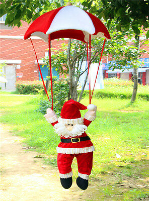 Santa Claus Snowman In Parachute Christmas Tree Hanging Ornament Xmas Decoration