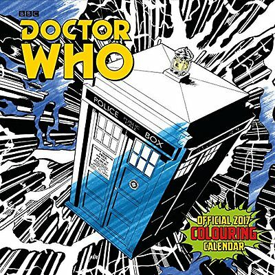 Doctor Who Official 2017 Colouring Calendar (Square) NEW