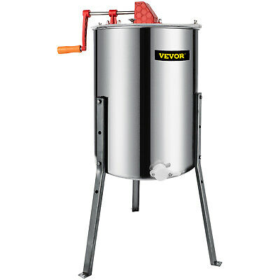 4 Frame Honey Extractor Stainless Steel Manual With Cover Honey Outlet Legs New