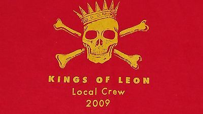 KINGS OF LEON 2009 Tour LOCAL CREW Backstage Worker Red Concert T-Shirt Mens XL