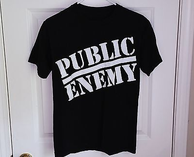 PUBLIC ENEMY 2-Sided Old School Rap Logo T-Shirt Mens/Adult Size S Flavor Flav