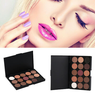 Hot 15 Colors Matte Shimmer Eyeshadow Palette Makeup Cosmetic kit New K@#