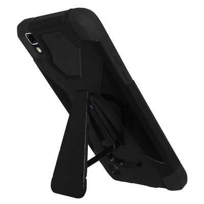 AMZER Hybrid Rubber Soft Cover Rugged Hard Shell Kickstand Case for LG X Power