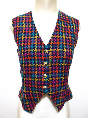 CULT VINTAGE '70 Gilet Panciotto Donna Piedipull Woman Waistcoat Sz.S - 42
