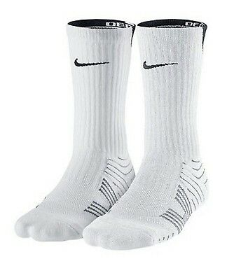 Nike Performance Socks Size (4-6) Women's, (3-5) Youth White 2 Pack