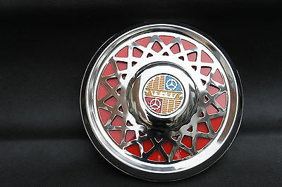 "VESPA VLB Rally GS PX LML 10"" Chrome Spare Wheel Cover Trim Red LAST FEW IN STOC"