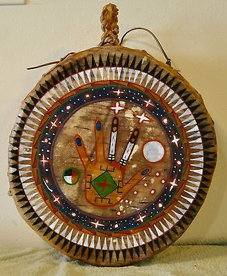 Native American Drum Painted by Lakota Artist Sonja Holy Eagle