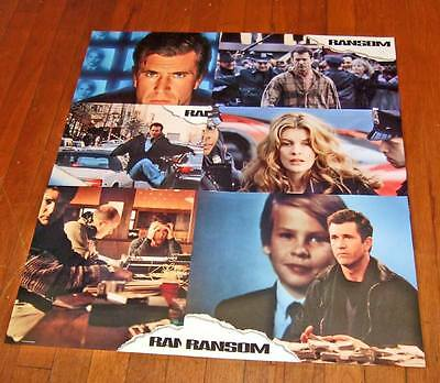 1996 Ransom lobby cards~set of 6~Mel Gibson~unused