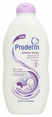 PRODERM SLEEP EASY SHAMPOO & BATH WASH BABY 1-3 YEARS CHAMOMILE & LAVENDER 400ml