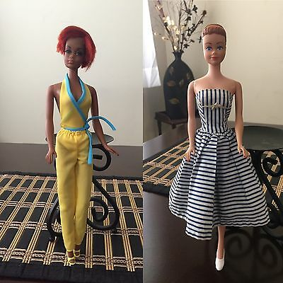 Vintage Barbie Midge And Christie HTF! and accessories!! Lots!