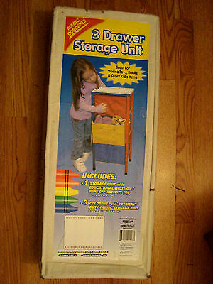Magic Concepts Child'sthree Drawer Storage Unit New In Box
