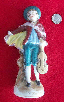 "Vintage porcelain Made in Japan figurine of a Man with a Violin 5-1/4"" tall"