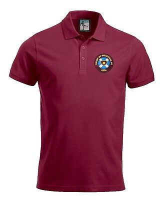 Retro Hearts 1950s Football Polo New Sizes S-XXXL Embroidered Logo