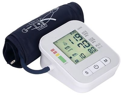 EHM Voice LCD Digital Blood Pressure Pulse Monitor Heart Beat Arm Cuff USA