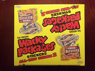 SEALED 2005 Topps Wacky Packages ANS2 Series 2 24 Pack Box with 6 cards per pack