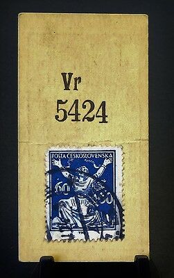 Cigarette Card Godfrey Phillips Ltd Stamps Checkoslovakia 60 Kor Dark Blue GC 86
