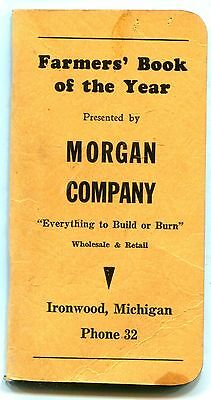 1949 Ironwood, Mich. - Farmers' Book for the Year - Morgan Company