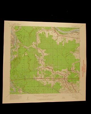 Fordoche Louisiana vintage 1962 original USGS Topographical chart
