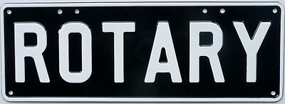 ROTARY Number Plate Sign Novelty Metal Tin Sign