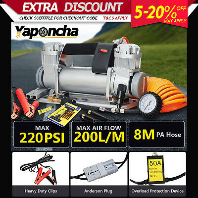 NEW Yaponcha 12V 200PSI Air Compressor Car Tyre Deflator 4wd Inflator Portable
