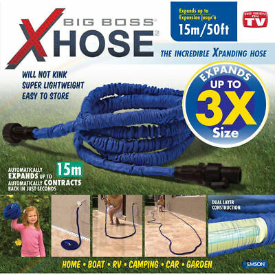 15m Water Hose/Light Stretch Auto Expand Expandable Outdoor Garden/Spray Control