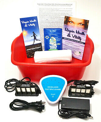 IONIC DETOX CLEANSE FOOT SPA - Ionic Cleanse Detox Foot Bath, 1 YEAR WARRANTY!