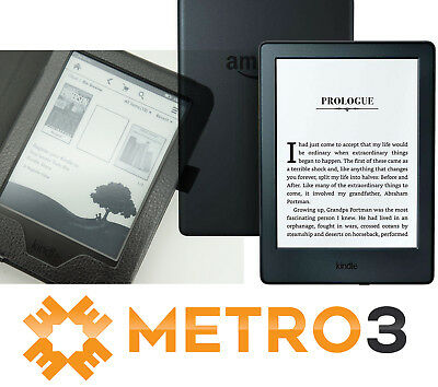 "NEW Amazon Kindle 4GB 6"" eReader BLACK 8th Generation 2017  