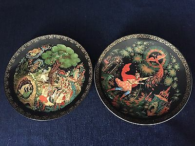 Tianex Russian Legends Collector Plates Set Of 2