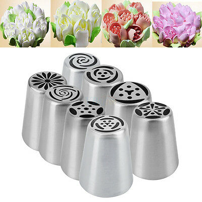 Russian Stainless Steel Icing Piping Nozzles Pastry Tips Fondant Cake Decoration