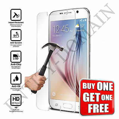 Samsung Galaxy S6 SM-G920 Real Tempered Glass Film Screen Protector-NEW