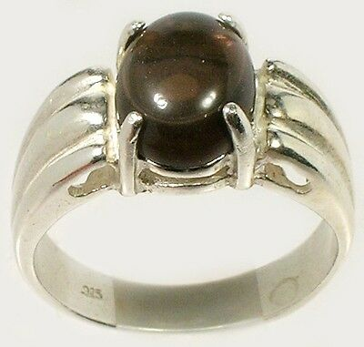 19thC 4½ct Smoky Quartz Cairngorm Scotland Sacred Gem of Druid Magic Silver Ring
