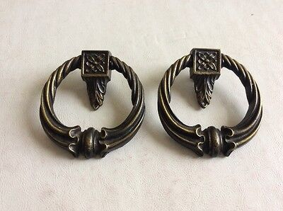 """Vintage Door Knocker Style Pull Handles A1776 Set Of 2 About 3"""""""